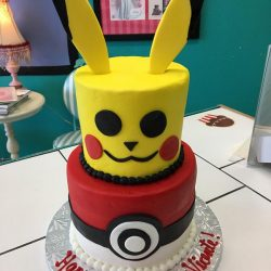 Pokemon cakes, birthday cakes for boys, kids birthday cakes, tiered birthday cakes, pikachu birthday cakes
