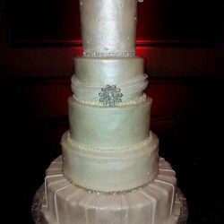 pearl Wedding Cakes, Stencil wedding cakes, silver wedding cakes, wedding cake ideas, frisco wedding cakes, plano birthday cakes, carrolton wedding cake bakery, grapevine wedding cake, irving wedding cakes, sugar bee sweets bakery