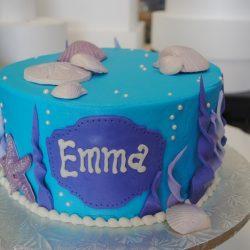 Seashell Birthday Cake   Small Birthday cakes, arlington cake bakery, cupcakes dallas, fort worth cupcakes, ocean theme
