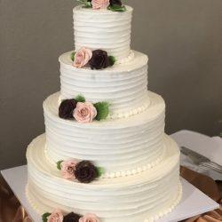 Ruffled Wedding Cakes, Dallas Wedding Cakes, Fort Worth Wedding Cakes, Custom Cakes in DFW, DFW Weddings, Simple Wedding Cakes
