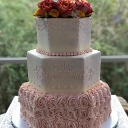 Gold Sequins Wedding Cakes | Gold Weddings | Naked wedding cakes | Arlington Wedding Bakery
