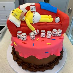 HOMER SIMPSON CAKE | SIMPSONS CAKES, BIRTHDAY CAKES DALLAS | DALLAS BAKERY | custom cakes arlington