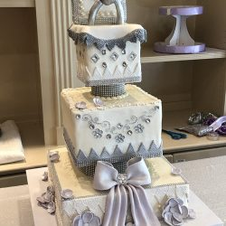 silver cakes, wedding cakes dallas, fort worth custom cakes, engagement cakes dallas, arlington custom cakes