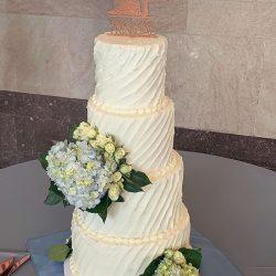 Horizontal Lines, Buttercream ruffles cakes, Dallas bakery, slanted ruffles, plano wedding cakes, addison bakery, addison wedding cakes