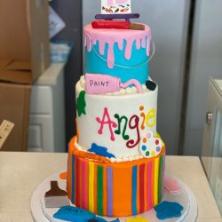 painting cakes, birthday cakes, painting with a twist cakes, arlington birthday cakes, mansfield bakery, fort worth bakery