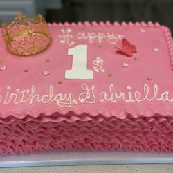 Pink Ruffles Cake | Girl Birthday Cakes | Princess Birthday Cakes | Dallas Cakes | Fort Worth Cakes