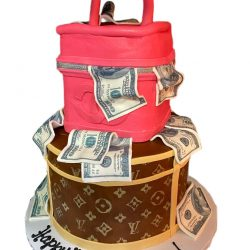 Designer Cakes | Money Birthday Cakes | Chanel Cakes | Louis Vuitton Cakes | Dallas Bakery | Arlington Bakery