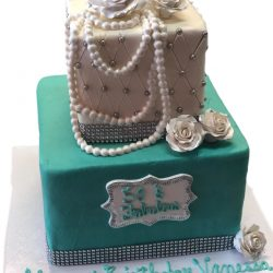 Custom Cakes Arlington, Dallas Bakery, Birthday Cakes in Arlington, Silver themed cakes