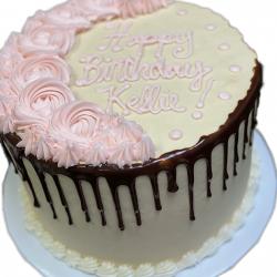 rosettes cakes, birthday cake, chocolate drip, dallas birthday cakes, arlington bakery