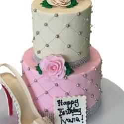40th birthday cakes, high heel shoes cakes, custom birthday cakes