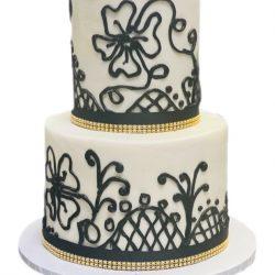 Black Lace Cake, Custom Cakes Dallas, Fort Worth Cakes, Arlington Specialty Cakes