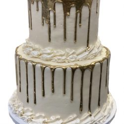 gold drip cakes, custom gold cakes, custom wedding cakes, birthday cakes