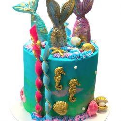 Mermaid Birthday Cakes, Custom Birthday Cakes, Small Birthday Cakes, Dallas Bakery, Arlington Bakery