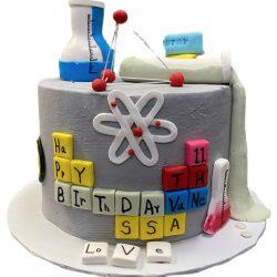 science birthday cake, custom birthday cake, kids birthday cake, dallas bakery, fort worth bakery