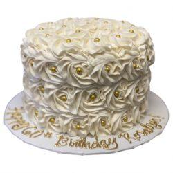rosettes cake, buttercream cakes, custom cakes, dallas bakery, arlington bakery