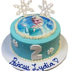 frozen cake, frozen birthday cake, 2nd birthday cake, snowflakes, dallas bakery, fort worth bakery