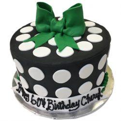 polka dots cake, cute bow birthday cake, custom birthday cakes, dallas, arlington, fort worth