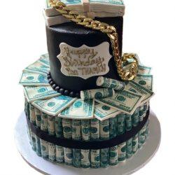 money cakes, high roller cakes, gold chain cakes, gold theme cakes, birthday cakes, 100 dollar bill cakes, custom bakery, dallas, fort worth, arlington