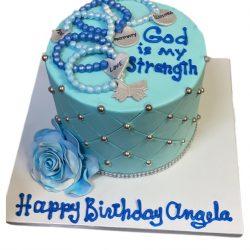 Blue cakes, birthday cakes, holy cakes, silver theme cakes, custom birthday cakes, dallas bakery, fort worth cakes