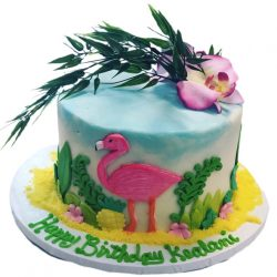 Small Flamingo Cake, birthday cakes in dallas, custom cakes in arlington, best dallas bakery