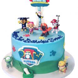 Paw patrol, birthday cake, dallas, arlington custom bakery