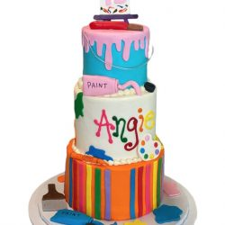 Painters Dream birthday cake, 15th birthday cake, arlington bakery, dallas bakery, that's the cake