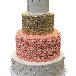 sweet 16 birthday cake, peach rosettes cakes, dallas bakery, fort worth bakery, plano bakery, frisco bakery