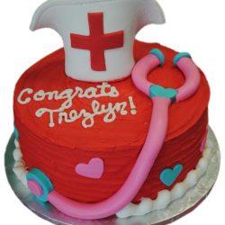 nursing graduation cake, nursing cakes, custom cakes, dallas graduation cakes