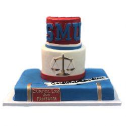 SMU Graduation Cake, SMU Cakes, Custom cakes, specialty cakes, Graduation hats, Arlington, TX