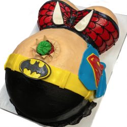 baby shower cakes, superhero baby shower cakes, custom shower cakes, custom superhero cakes