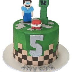 small minecraft cakes, 5th birthday cakes, minecraft cakes, dallas bakery, fort worth cakes
