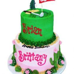 duo birthday cake, golf cakes, cactus cakes