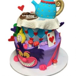alice in wonderland cakes, birthday cake wonderland, checkerboard cakes, dallas birthday cakes, custom cakes in arlington, custom cakes in Fort Worth