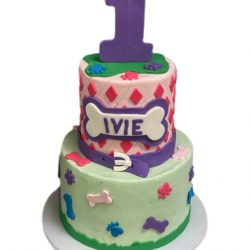 Puppy Pals Birthday cake, 1st birthday cakes, custom cakes dallas