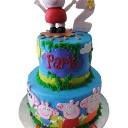 Peppa pig cakes, birthday cakes, arlington bakery, custom birthday cakes