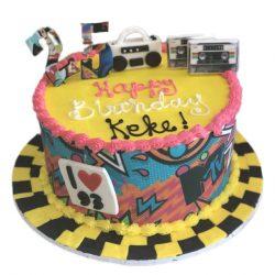 MTV cakes, 25th birthday cakes, hip hop theme cakes, fort worth bakery