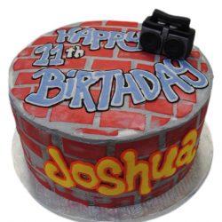 Hip Hop Cake with Bricks, Hip hop birthday cakes, custom birthday cakes, arlington bakery