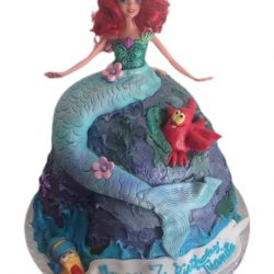 Mermaid on a rock cakes, birthday cakes, kids birthday cakes