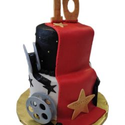 Hollywood cakes, red carpet cakes, movie cakes, dallas delicious cakes, addison bakery, the london baker