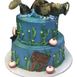 Fishin' Cake, Grooms Cakes, Birthday Cake, Dallas Bakery