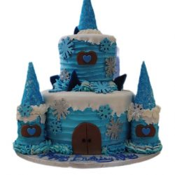 Blue Castle Cake, Birthday Cakes, Winter Wonderland Cakes