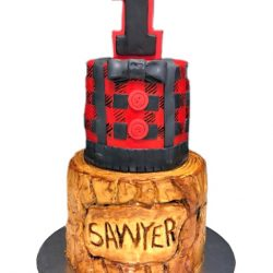 Lumberjack Birthday Cake, Lumberjack theme, dallas cakes, arlington bakery, that's the cake