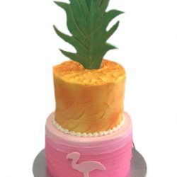 Flamingo cakes, pineapple cakes, arlington bakery, dallas bakery, bakeries near me, fort worth cakes