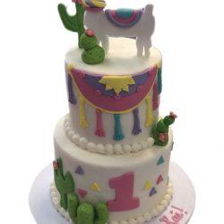 Llama Birthday Cake, 1st Birthday, That's The Cake Bakery