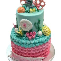 under the sea cakes, mermaid cakes, birthday cakes arlington, custom delicious cakes, girls birthday cakes