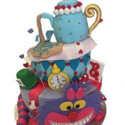 alice in wonderland cakes, birthday cake wonderland, checkerboard cakes, dallas birthday cakes, custom cakes in arlington, custom cakes in Fort Worth