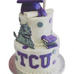 Graduation Cake TCU Nurse Uniform