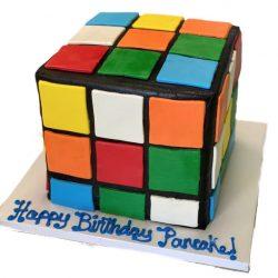 rubiks cube cake, birthday cakes, fort worth bakery, arlington bakery