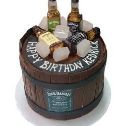 Jack daniels birthday cake, jack daniels barrel cake, custom cakes arlington, arlington bakery, that's the cake