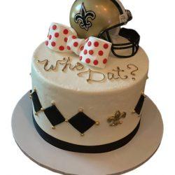 New Orleans Saints Grooms Cake, Bow Tie Cake, Custom Cakes In Arlington, Custom Dallas Bakery
